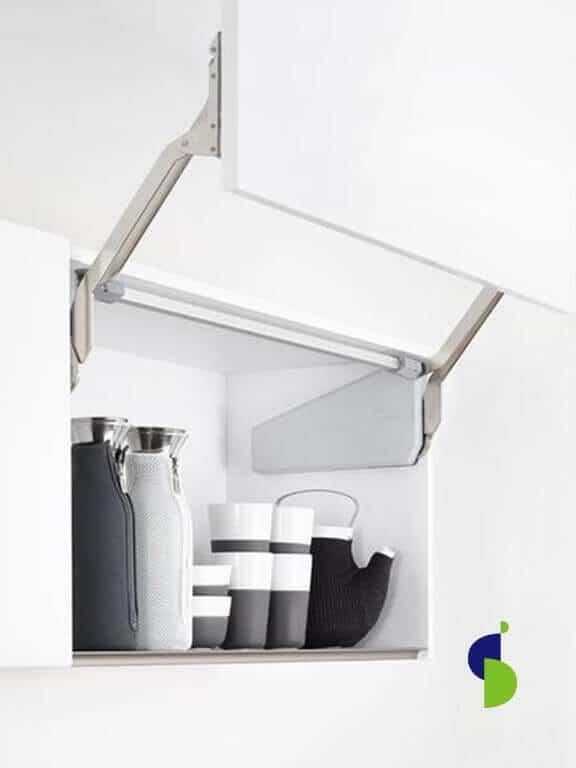 Mecanismo apertura FreeSlide para puerta individual. Incluye barra estabilizadora.