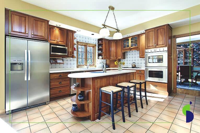 ¡5 diseños de cocinas con isla o mesa para comer que amarás!
