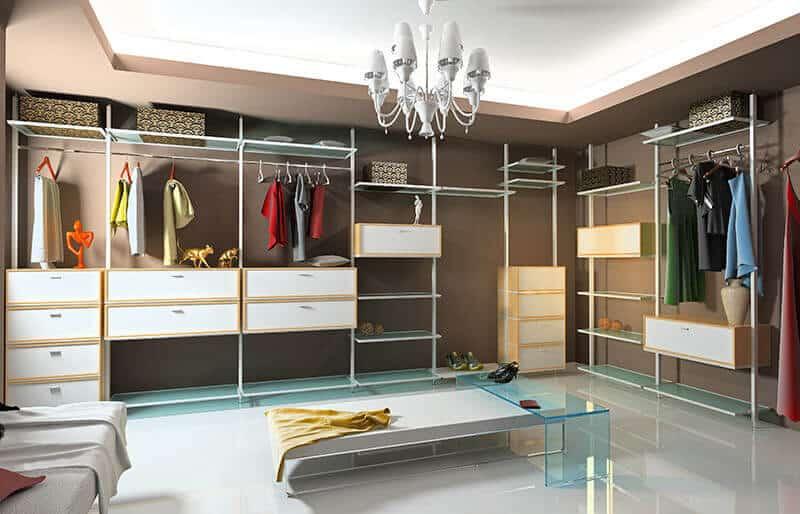 Closets grandes y modernos en madera fabricados en Bogotá
