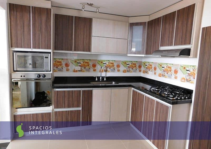 Acabados de cocinas elegant y belleza y de acabados for Enchapes cocinas modernas