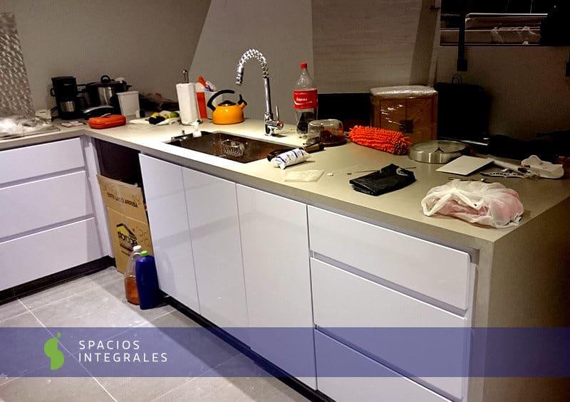 Cocina integral de alta gama en pintura poliuretano de for Cocinas integrales de alta gama