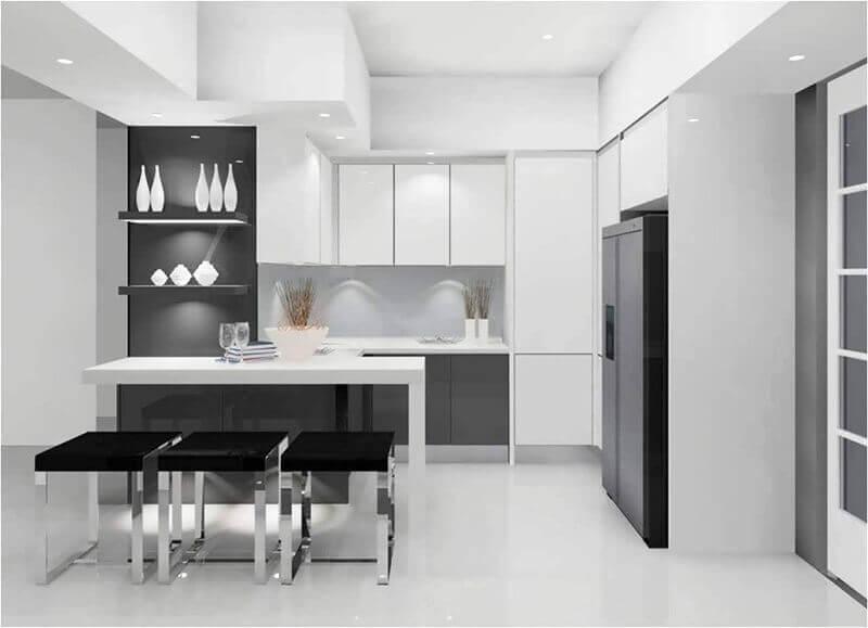Modelo de cocinas modernas minimalistas en Bogotá