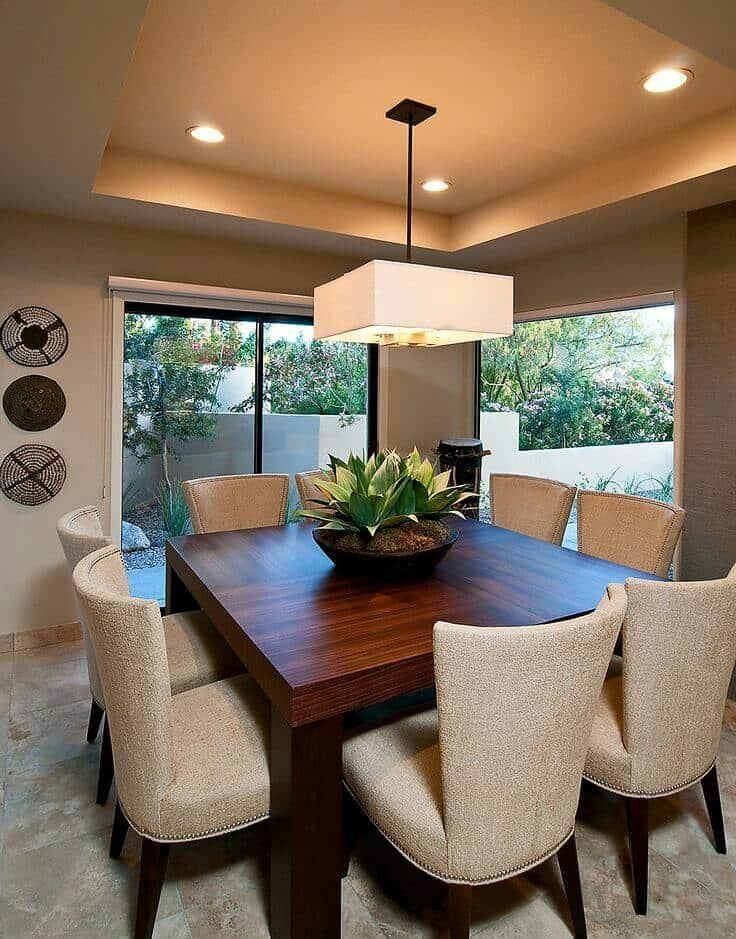 Nuevas ideas de decoraci n en dise os de techos para for Colores para cocina comedor