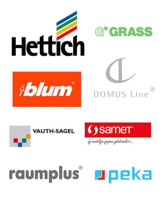 Herrajes y accesorios nacionales e importados - Hettich, Blum, Samet, Grass