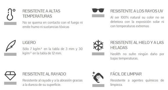 Propiedades Neolith - Producto Spacios Integrales, Bogotá