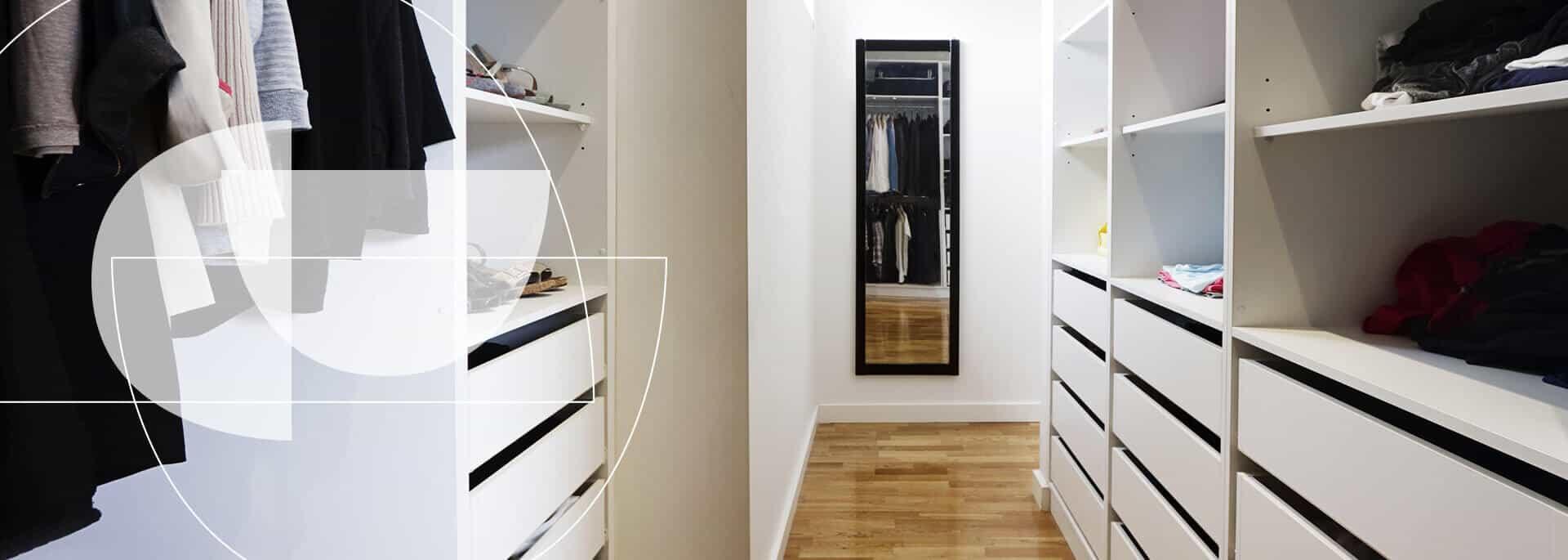 Closets en madera de excelente manofactura y diseño - Spacios Integrales